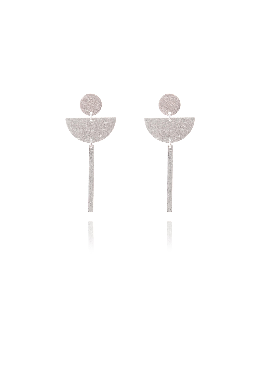 Drop Stud Earring 3 Shapes Sterling Silver