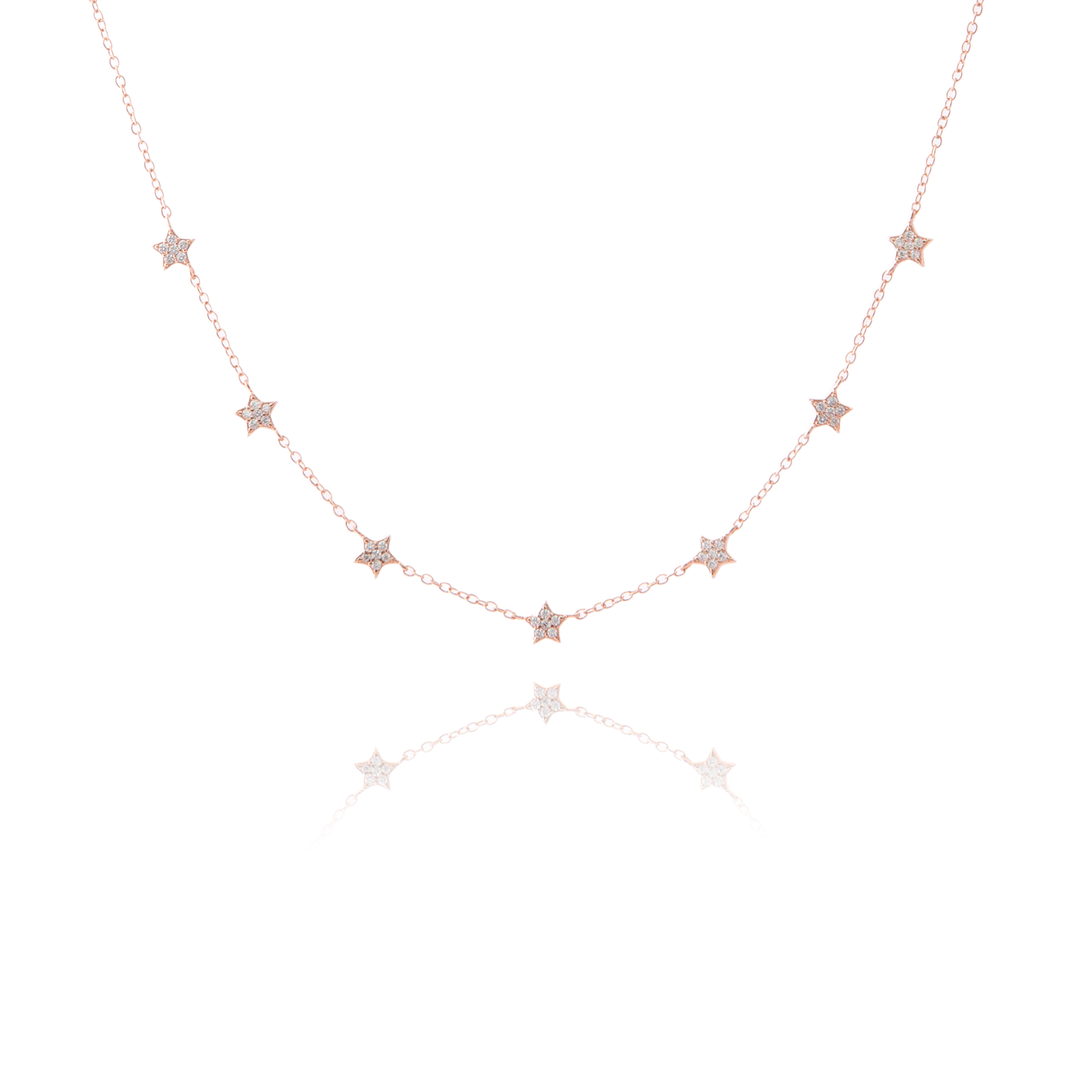 27839f9a3c3be Choker Necklace Lots of Little Shiny Stars Rose Gold - The Makery ...