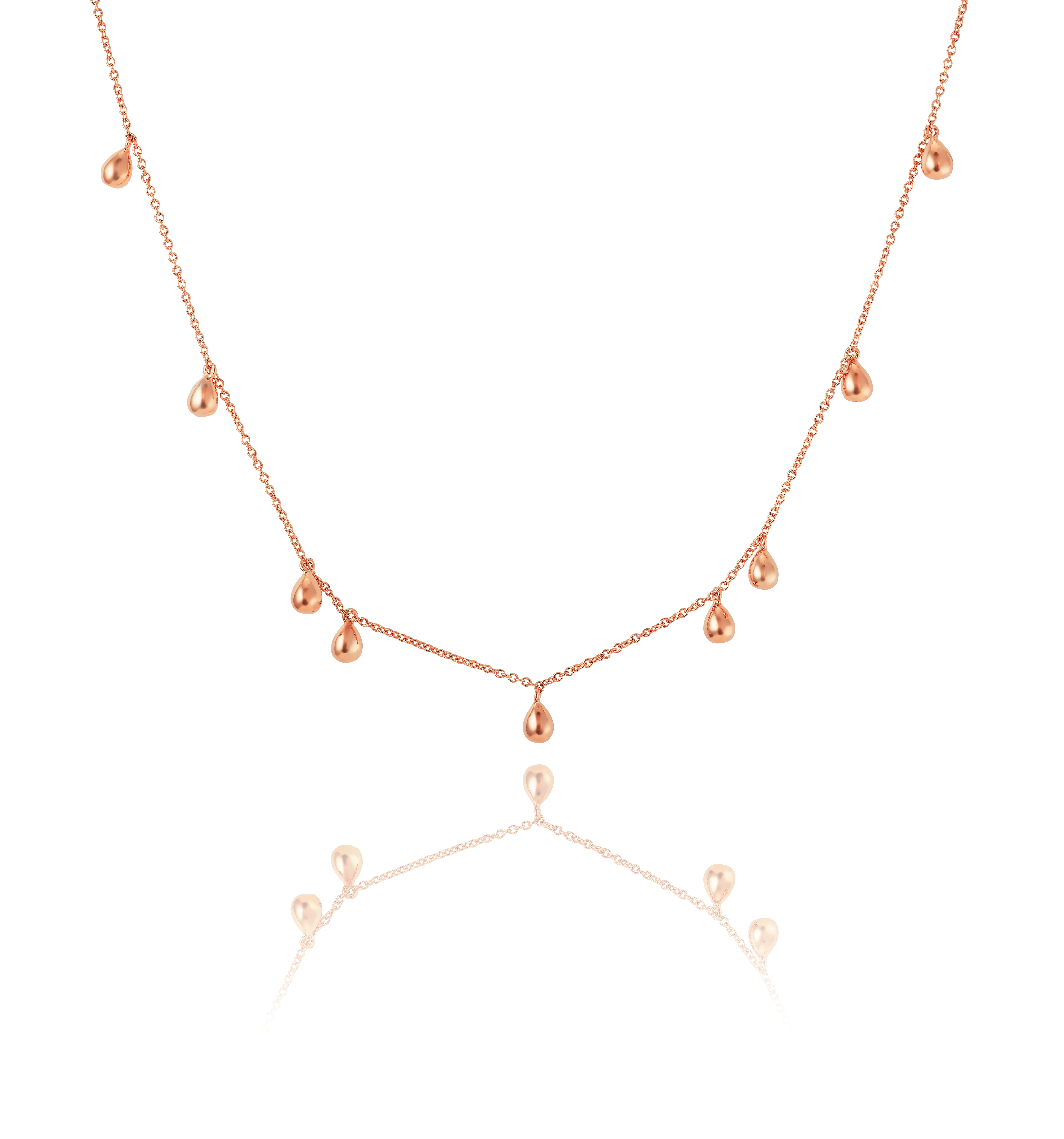 Rose Gold Teardrop Necklace - The Makery Collection 99fe06743